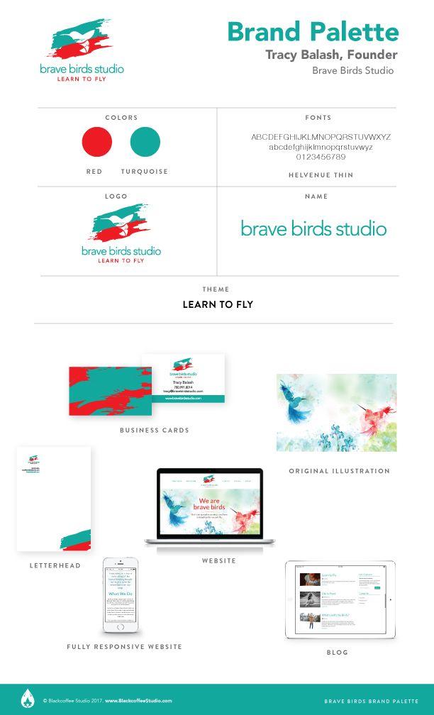 Brand Palette: Brave Birds Studio www.BraveBirdsStudio.com