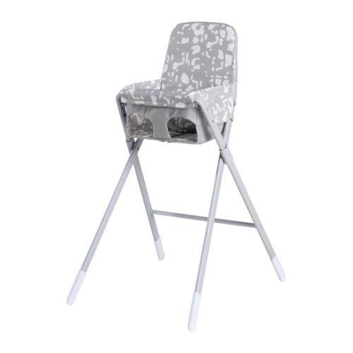 SPOLING Chaise haute avec ceinture - beige/blanc  - IKEA