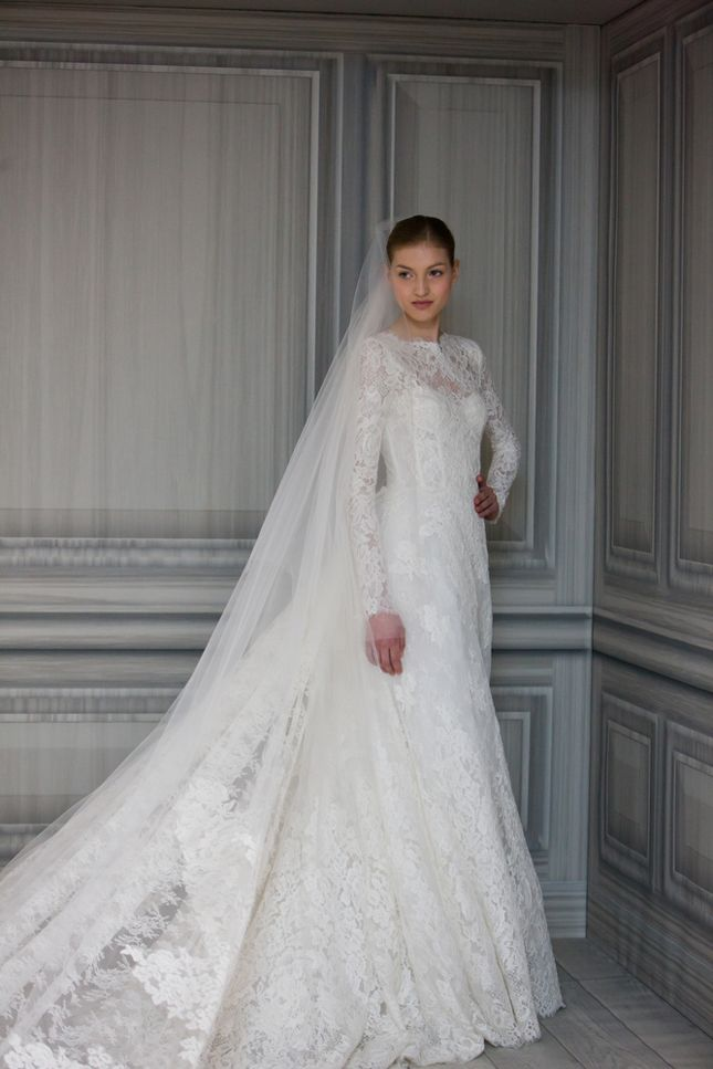 Reminds me of a dress I would have loved in 1983.Lace from head to toe,so pretty . Monique Lhuillier