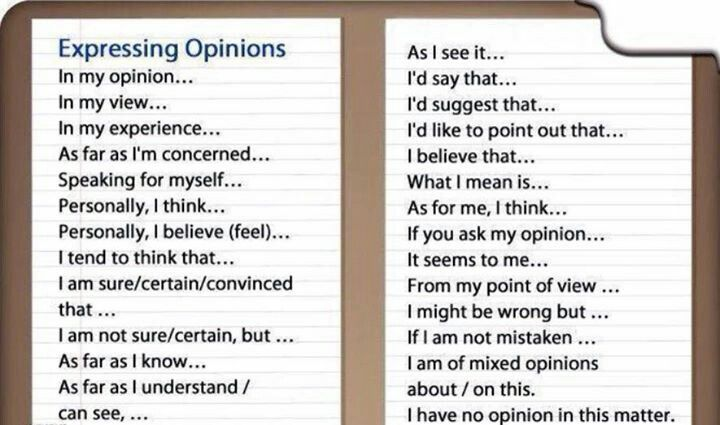 Expresing opinions