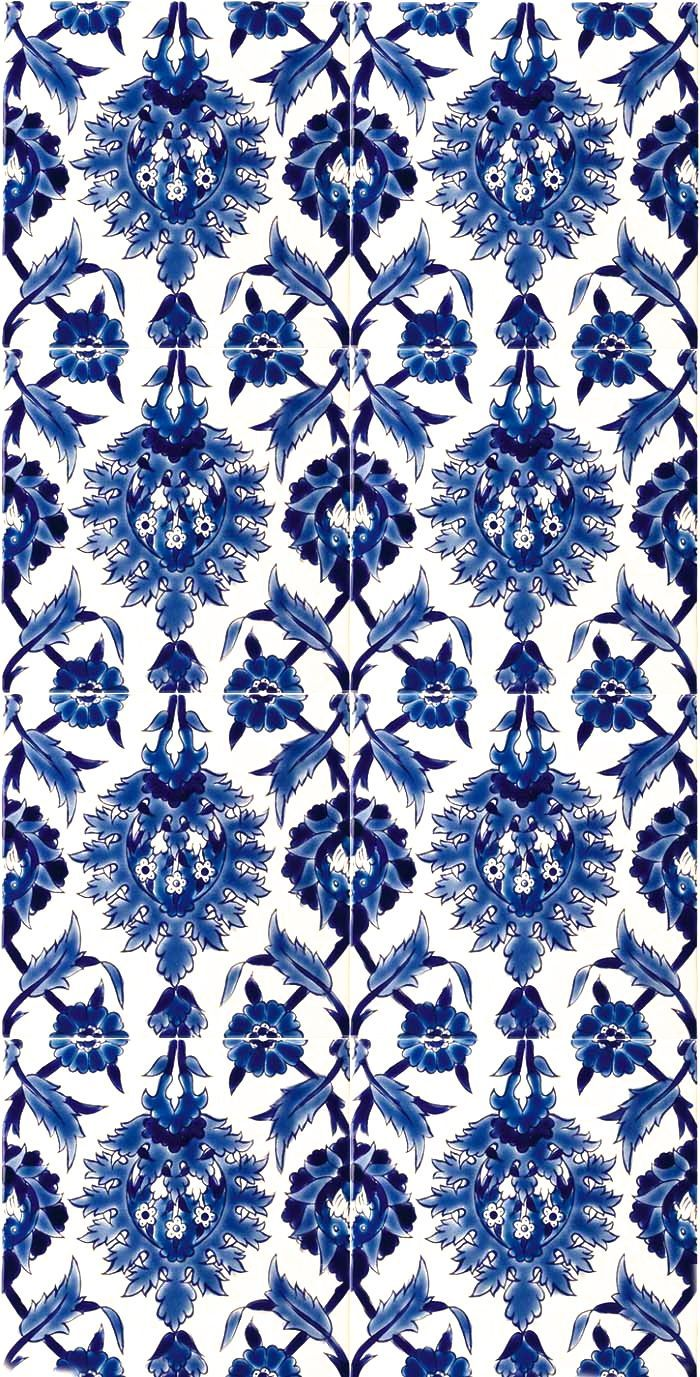 Tile Perfection Blueandwhite Pattern Blue Tile This