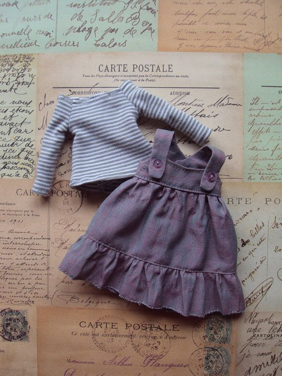 Flounced Jumper dress set for Blythe Dusty par moshimoshistudio