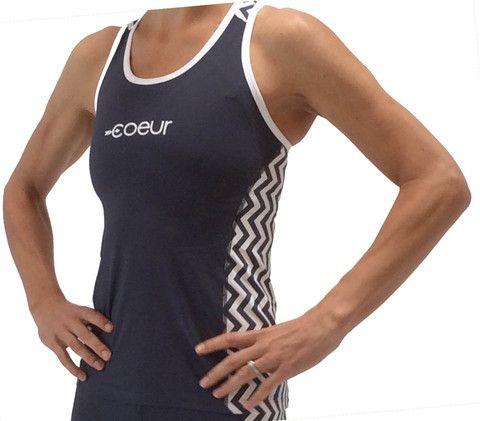 Women's Triathlon Top in Chevron Design
