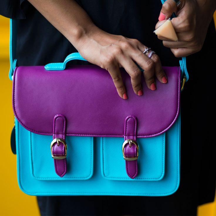 Pop Burst Blue Satchel Bag - Chumbak Friendship Day