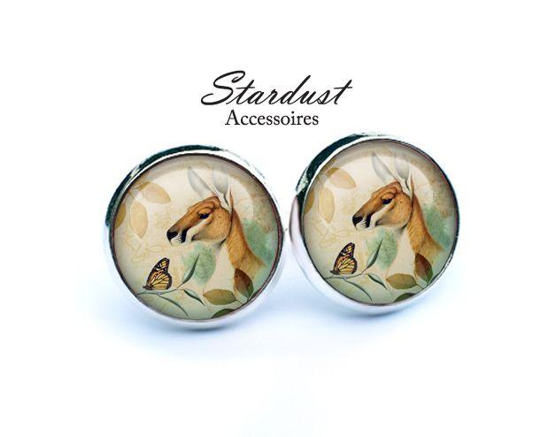 Ohrstecker silber ✿ Känguru ✿ von Stardust Accessoires auf DaWanda.com