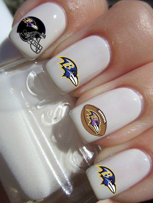 Baltimore Ravens Football Nail Decals by PineGalaxy on Etsy, $4.50