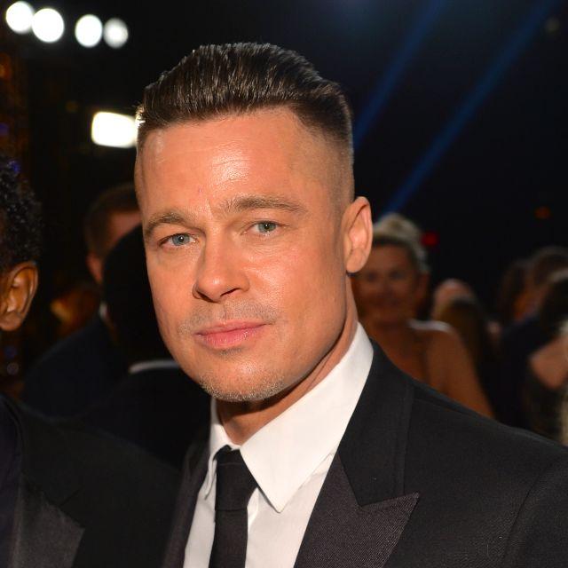 Does a Half-Shaved Head Make Brad Pitt Any Less Sexy? #oscar2014 #academyawards2014