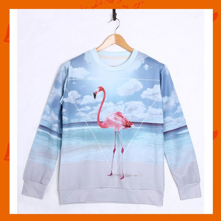 Flamingo Hoodie Material: Polyester / Cotton Feature: Anti-Pilling, Anti-Shrink, Anti-Wrinkle, Breathable, Eco-Friendly, Plus Size, Quick Dry, Windproof Size: S/M/L