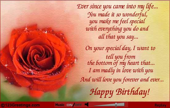 birthday wishes for wife from husband – Birthday Love Greeting