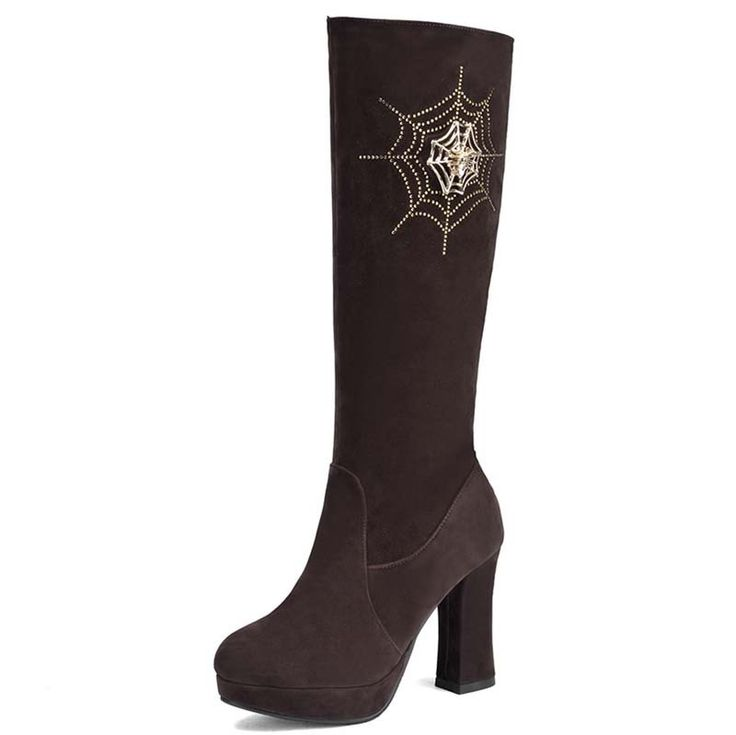 34.17$  Watch now  - Airfournew  fashion over the knee boots for women thick high heels boots platform winter boots round toe Rhinestone long boots