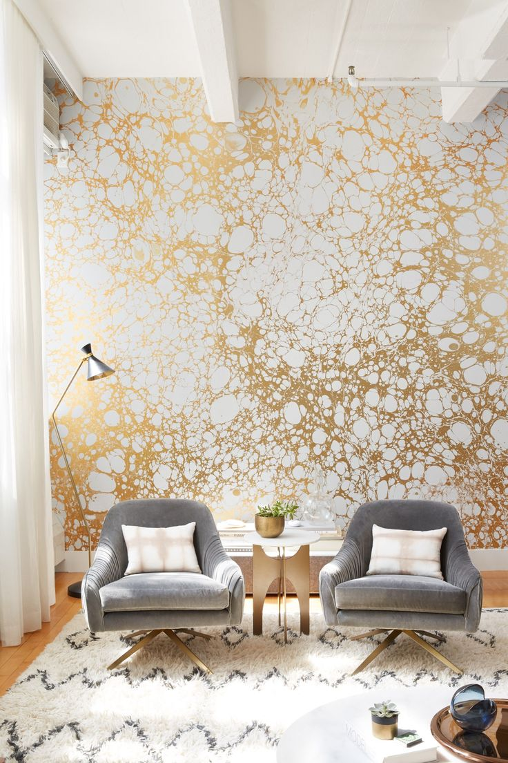 Living room wallpaper texture - The Stunning Transformation Of A Brooklyn Apartment