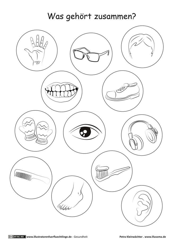 Download als PDF: Gesundheit – Körper Körperteile Ratespiel – Kleinwächter