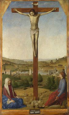 Crucifixion (Christ Crucified) - Antonello da Messina. 1475. The National Gallery, London.
