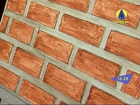 Santa Receita   Aprenda a fazer o efeito tijolinho na textura da parede! - 14 de Agosto de 2014 - YouTube