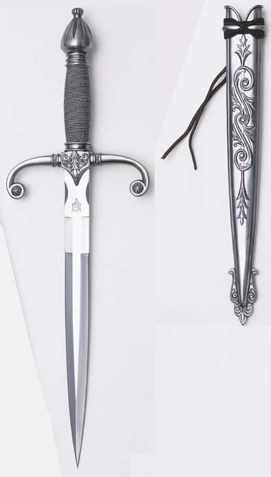 Along with his broadsword, Sir Bennet would have a dagger close at hand. http://jodyhedlund.com/books/for-love-and-honor