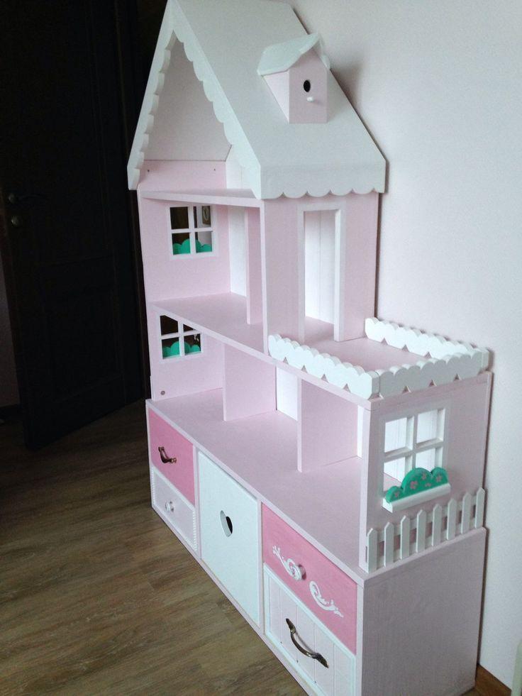 Купить Кукольный домик стеллаж 6-комнатные апартаменты с террасой - кукольный дом, кукольный домик