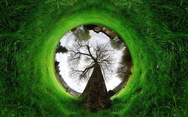 ♥ 360 degree reverse panorama photo   one big photo