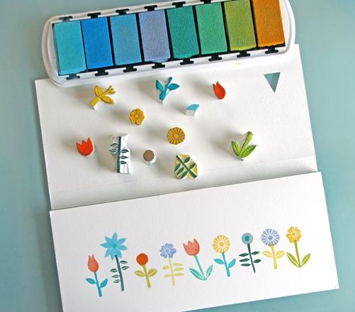 Make stamps with the best tricks & tips Tutorial and 45 BEST Charming Lifestyle DIY & Tutorials EVER. From MrsPollyRogers.com
