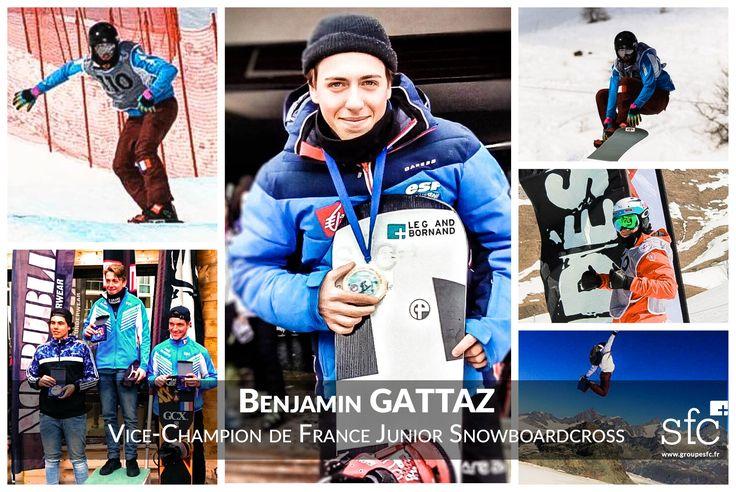 Partenaire des sportifs de haut niveau, du début de leur carrière jusqu'à leur reconversion, c'est avec plaisir que nous soutenons, cette année et celle à venir, Benjamin Gattaz athlète de snowboardcross, vice-champion de France Junior et 15ème au championnat du monde Junior. Benjamin est à l'aube d'une carrière qui s'annonce très prometteuse !