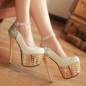 Womens Sexy Shallow Platform Pumps High Heels Ladies Party/Pole Dancing Shoes