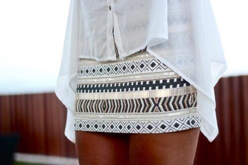 Aztec mini skirt Fashion