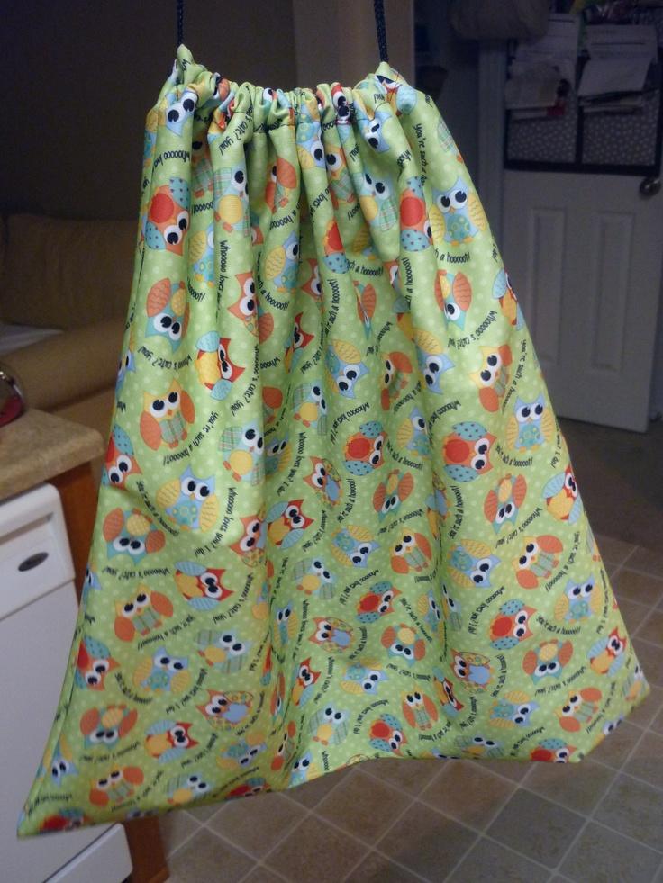 DIY diaper wet bag- used nylon cord & PUL, regular needle and good quality thread.