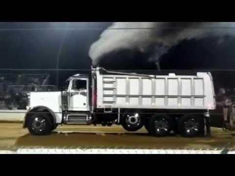 peterbilt dump truck sled pull @ the buck 8/18/12 - YouTube