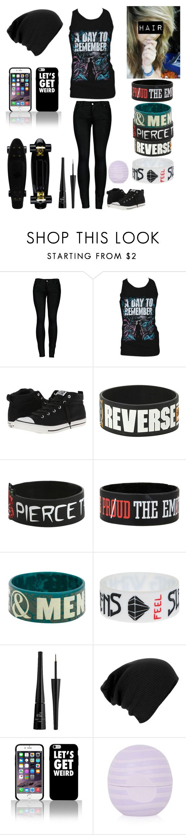 """""""Style #236"""" by katlanacross ❤ liked on Polyvore featuring 2LUV, Retrò, Converse, e.l.f. and Topshop"""