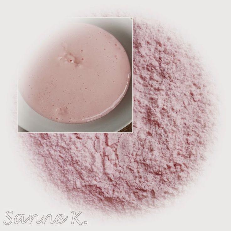 Puddingpulver auf Vorrat (Geschmacksrichtung Erdbeere)