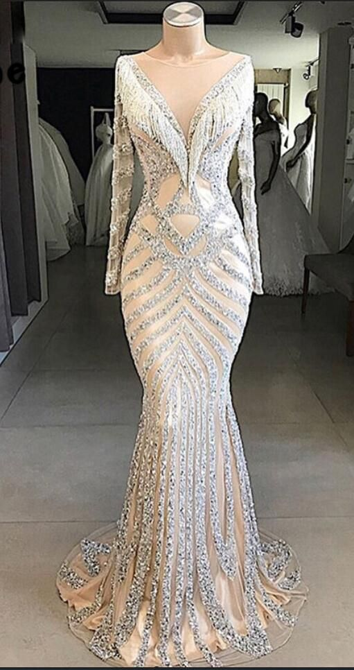 40465d32abdc Couture Mermaid Evening Dress 2018 Beaded Tassel Muslim Turkish Dubai Party  Gown Robe De Soiree Arabic African Long Prom Dresses in 2019 | anne1989-prom  ...