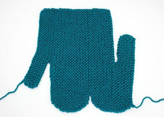 Easiest Mitten Knitting Pattern EVER!