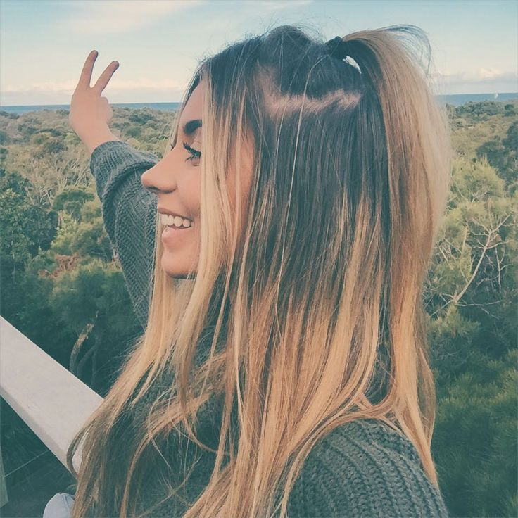 #danimansutti #ombre #hair #swater #australian #winteroutfit