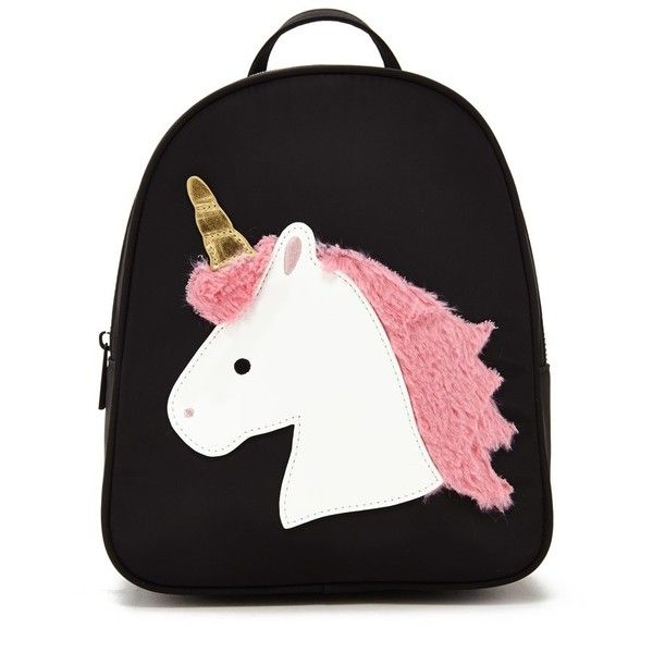 Forever21 Unicorn Graphic Mini Backpack found on Polyvore featuring bags, backpacks, mini rucksack, backpack bags, mini backpacks, miniature backpack and structured top handle bag