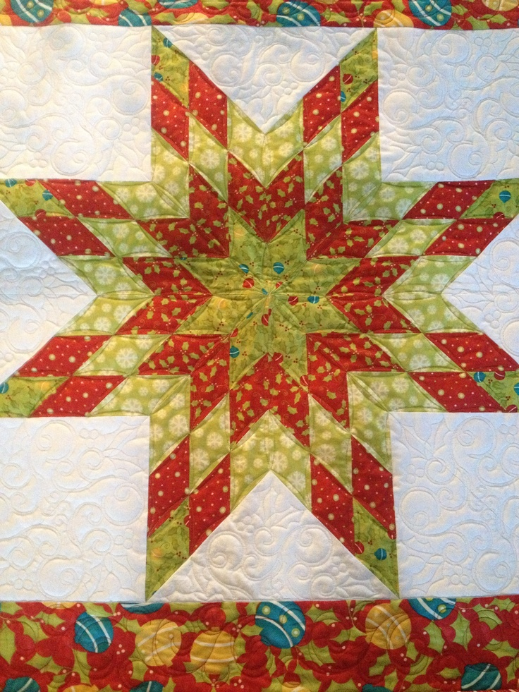 Lone Star Quilt Pattern Queen Size : Christmas Lone Star Quilt Christmas Quilts Pinterest Quilt, Lone star quilt and Stars