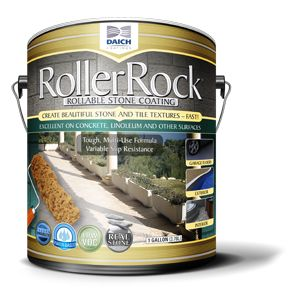 RollerRock - Decorative Concrete Coating to recover patios, concrete steps, garage floors.  Has great reviews!