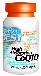 Médico Best Alta Absorción CoQ10 w / Bioperine (100 mg), 120 Geles Suaves.  Alta absorción CoQ10 contiene pura, Q10 coenzima vegetariana, además de BioPerine, en una base de aceite de oliva. CoQ10 es un nutriente que ayuda a la función cardíaca y promueve la producción de energía en las células LEER MÁS.........