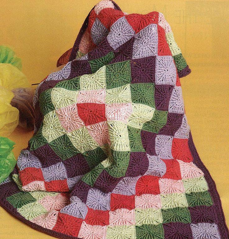 17 meilleures images 224 propos de plaids crochet sur couverture carr 233 e au crochet