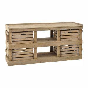 Mercado Oak 4 Drawer Storage Unit - Casafina