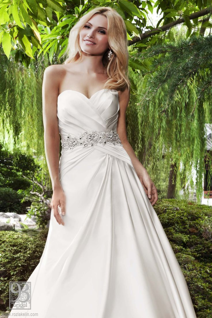 satin wedding gowns sundress wedding dress T Roz la Kelin