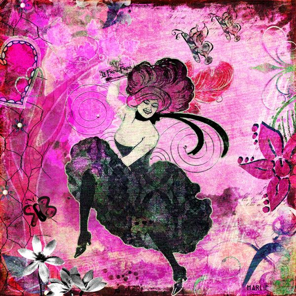 Frou Frou created by Marlie with In the Pink by 2 Curly Headed Monsters Designs available @ Mischief Circus. Thanks for looking!
