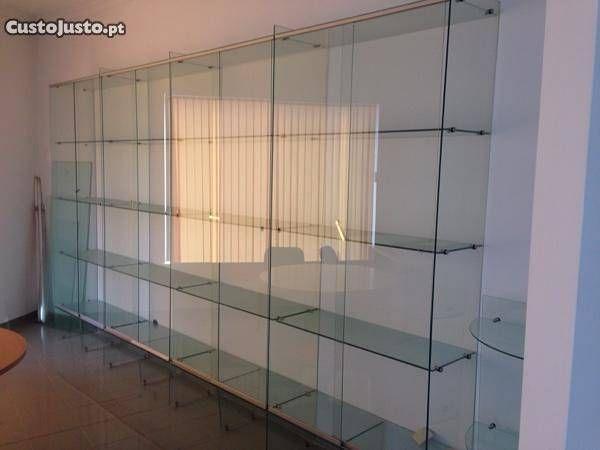 Armario Expositor De Vidro Com Chave : Vitrine expositor armario estante em vidro lugares para