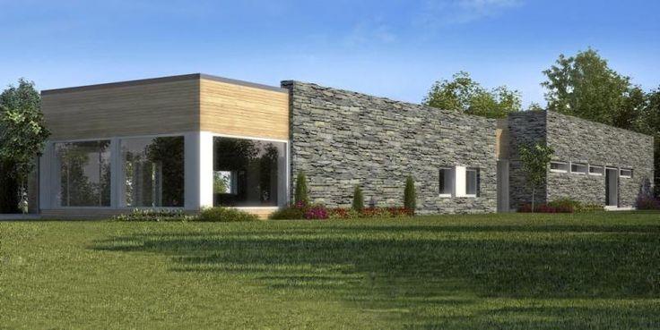 VIDDA: Norgeshus leverer Vidda, et langt og smalt ferdighus med moderne design.