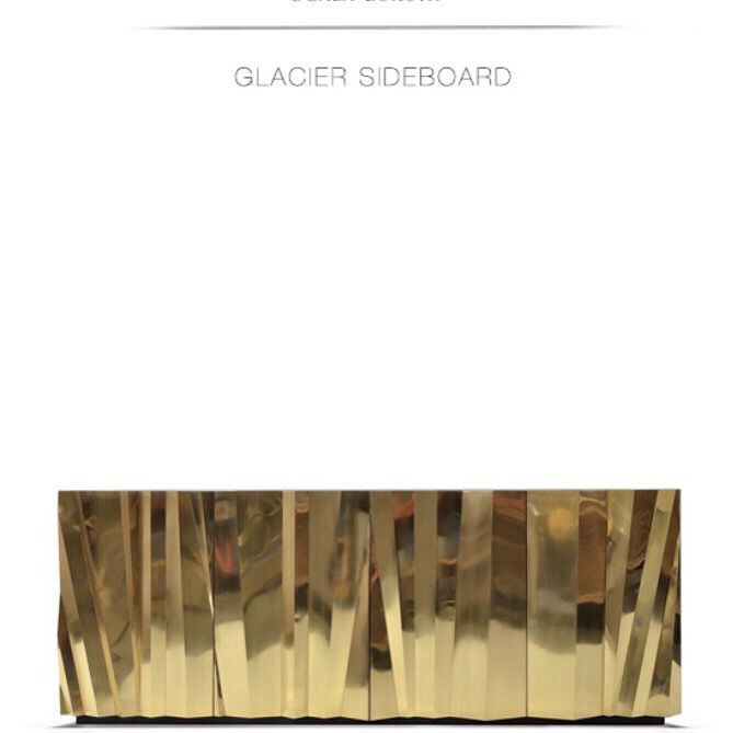 Gold Sideboard The Glacier Sideboard By Scala Luxury