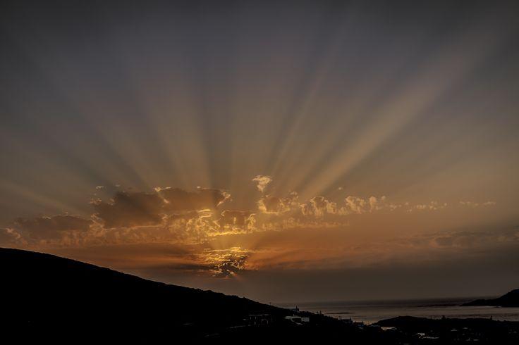 Sunrays - Amazing sunset with sunrays