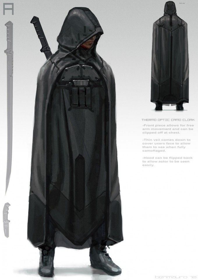 I like this design it's quite incognito and does show any body features meaning the identity of the character is hidden.