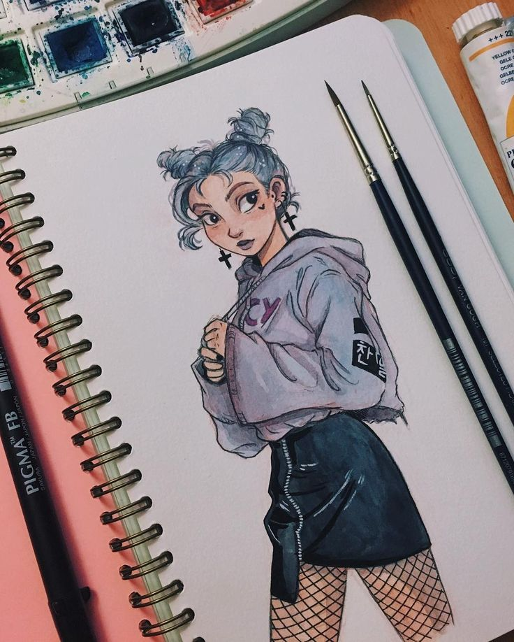 "43.2 mil Me gusta, 142 comentarios - Laia López (@itslopez) en Instagram: ""B o i did I miss using watercolors~ definitely loving the paper thickness and texture of my…"""
