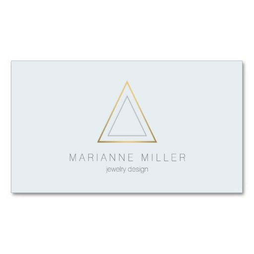 48 best business cards for jewelry designers etsy shops images on edgy and modern gold triangle logo 2 business card reheart Images