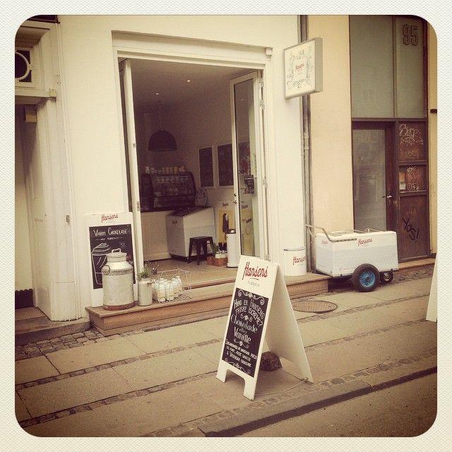 Quality dairy products - Hansens @MULGéO copenhagen, Store Kongensgade 93, 1264 Copenhagen K > Organic Design Gastro - mulgeo.com #mulgeo #ice cream #coffee