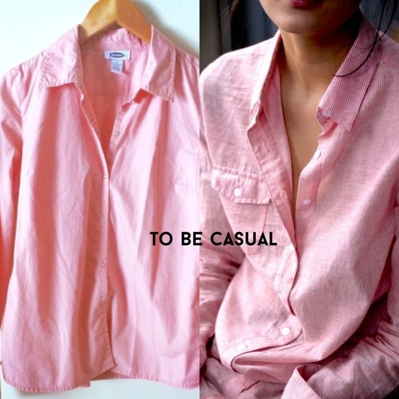GAP CASUAL LONG SLEEVE SHIRT Perfect fall color snap button front closure! Long sleeves with snap button wrists! Size M. Excellent condition! Will fit a small. Offers always welcome  but no trades Ty! ✌️ GAP Tops Button Down Shirts