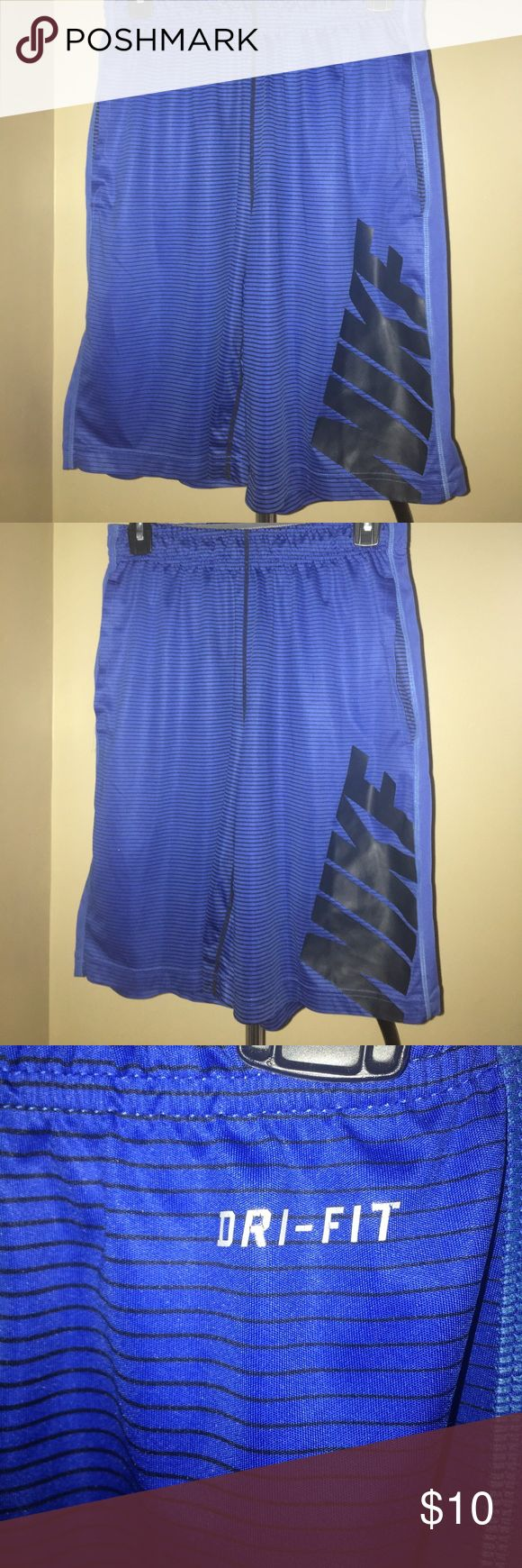 Nike dri Fit shorts size S Blue shoes with Black accents Nike Shorts Athletic